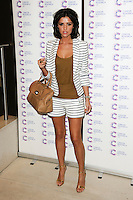 Lucy Mecklenburgh arriving at James' Jog On To Cancer Event, Kensington Roof Gardens, London. 09/04/2014 Picture by: Alexandra Glen / Featureflash