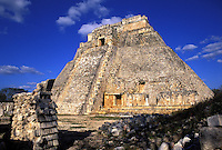 Mexico, Uxmal,Temple of the Magician