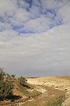 Israel, a flooded wadi in the Negev
