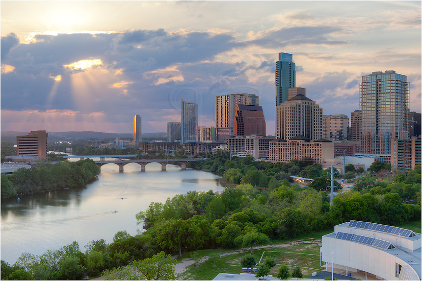 I have the chance to shoot the Austin Skyline from the Milago on many occassions. On this particular visit, I did not have high hopes, but the clouds started to break on a late afternoon and the setting sun broke through briefly. This is the image of the Austin skyline I captured that late day.