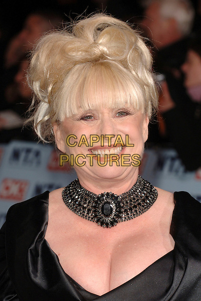 BARBARA WINDSOR.The National Television Awards 2006, Royal Albert Hall, London, UK. .October 31st, 2006.headshot portrait black choker necklace cleavage.CAP/BEL.©Belcher/Capital Pictures