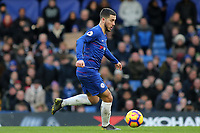 Eden Hazard of Chelsea in action during Chelsea vs Huddersfield Town, Premier League Football at Stamford Bridge on 2nd February 2019