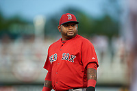 Boston Red Sox third baseman Pablo Sandoval (48) during a Spring Training game against the Minnesota Twins on March 16, 2016 at Hammond Stadium in Fort Myers, Florida.  Minnesota defeated Boston 9-4.  (Mike Janes/Four Seam Images)