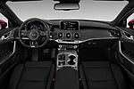 Stock photo of straight dashboard view of a 2018 KIA Stinger GT 5 Door Hatchback