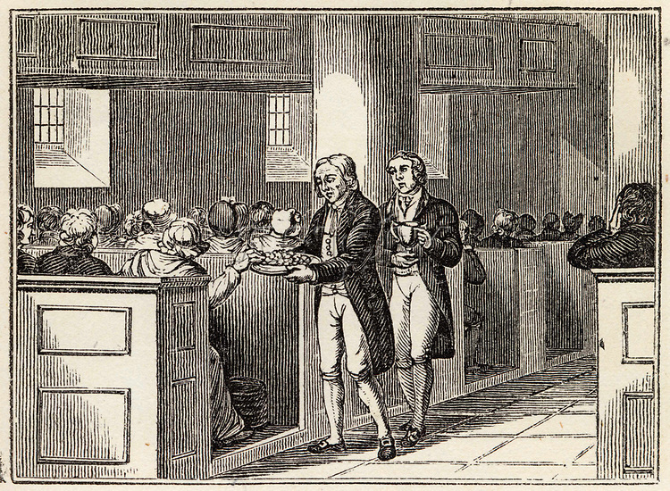 Love Feast of the Wesleyan Methodists     Date: 1820     Source: Nightingale's Religious ceremonies