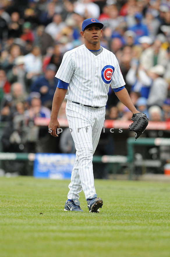 CARLOS MARMOL, of the Chicago Cubs,in action against the Pittsburgh Pirates  during the Cubs game in Chicago, IL on May 18, 2008 The Cubs won the game 4-3.