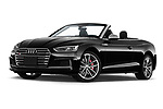 Stock pictures of low aggressive front three quarter view of a 2018 Audi S5 Base 2 Door Convertible