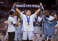 Soony Saad, C.J. Sapong. Sporting Kansas City won the Lamar Hunt U.S. Open Cup on penalty kicks after tying the Seattle Sounders in overtime at Livestrong Sporting Park in Kansas City, Kansas.