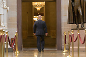 White House Director of Legislative Affairs Marc Short, walks through the United States Capitol Rotunda as Congress tries to make a deal to fund the government and break the shutdown on January 20th, 2018 in Washington, D.C. <br /> Credit: Alex Edelman / CNP