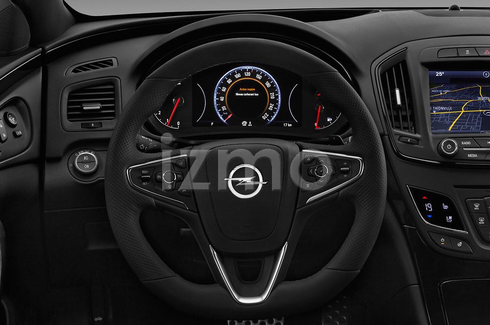Car pictures of steering wheel view of a 2016 Opel Insignia Cosmo 5 Door hatchback Steering Wheel