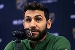 MARIETTA, GA - DECEMBER 06: Portland Timbers captain Diego Valeri. The MLS Cup 2018 Team Press Conferences were held on December 6, 2018 at the Children's Healthcare of Atlanta Training Ground in Marietta, GA.