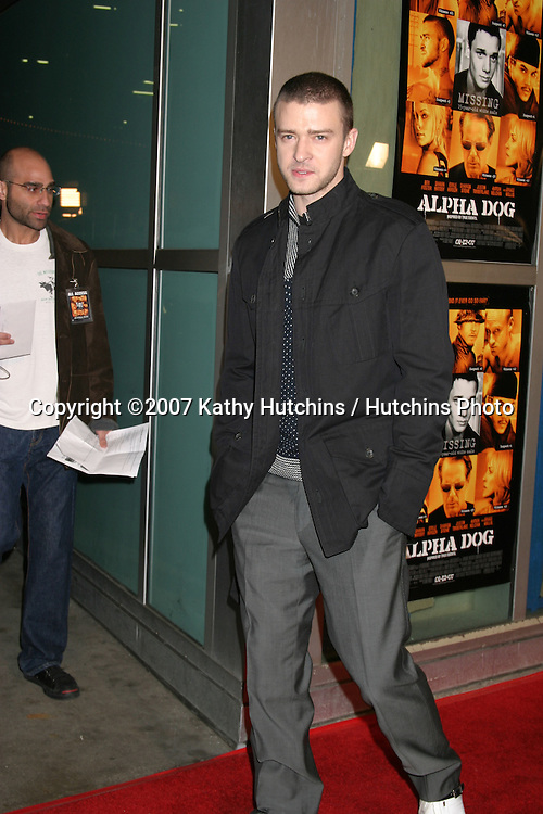 "Justin Timberlake.""Alpha Dogs"" World Premiere.Cinerama Dome Theater.Los Angeles, CA.January 1, 2007.©2007 Kathy Hutchins / Hutchins Photo...."