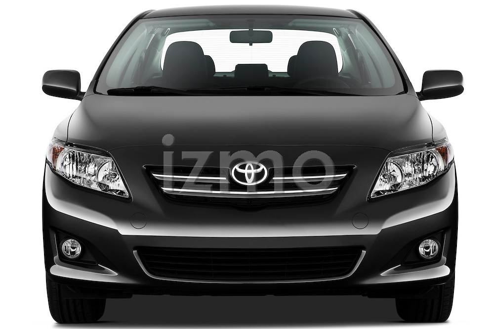 Straight front view of a 2010 Toyota Corolla Linea Sol 4 Door Sedan