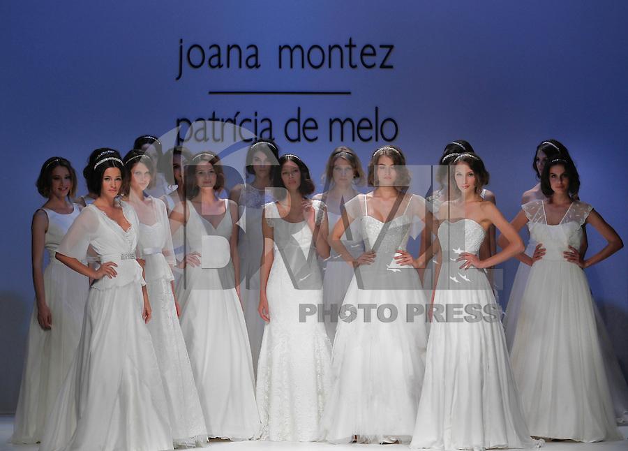 BARCELONA, ESPANHA, 10 DE MAIO 2012 - BARCELONA BRIDAL WEEK  - JOANA MONTEZ E PATRICIA DE MELO - Modelo durante desfile da grife Joana Montez e Patricia de Melo no terceiro dia do Barcelona Bridal Week, o maior evento de moda nupcial da Europa e um dos maiores do mundo, em Barcelona, nesta quinta-feira, 10. FOTO: VANESSA CARVALHO - BRAZIL PHOTO PRESS.