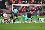 14.01.2018, RheinEnergieStadion, Koeln, GER, 1.FBL., 1. FC K&ouml;ln vs. Borussia M&ouml;nchengladbach<br /> <br /> im Bild / picture shows: <br /> 1:0 f&uuml;r K&ouml;ln durch Frederik S&ouml;rensen / Sorensen (FC K&ouml;ln #4),   <br /> <br /> <br /> Foto &copy; nordphoto / Meuter