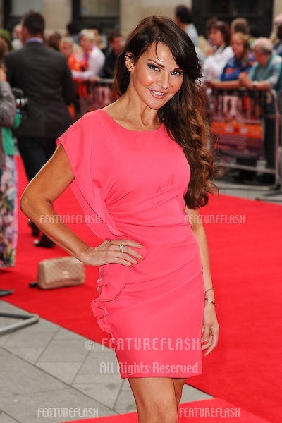 "Lizzy Cundy arrives for the ""Bula Quo"" premiere at the Odeon West End, Leicester Square, London. 01/07/2013 Picture by: Steve Vas / Featureflash"
