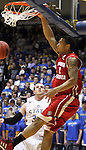 BROOKINGS, SD - JANUARY 12: Charlie Westbrook #1 from the University of South Dakota slams home two points against South Dakota State in the first half Thursday night at Frost Arena in Brookings. (Photo by Dave Eggen/Inertia)