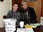 Ciaran Hickey and Karen Martin at the Special Olympics coffee morning fundraiser in the Dominic house. Photo:Colin Bell/pressphotos.ie
