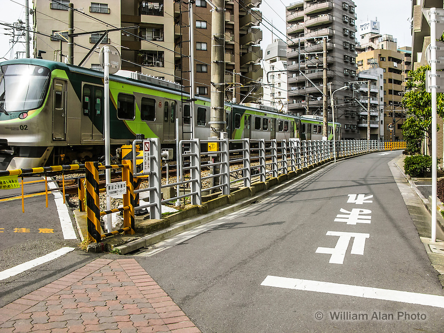 Train enroute to Kamata Station in Ota, Japan 2014.