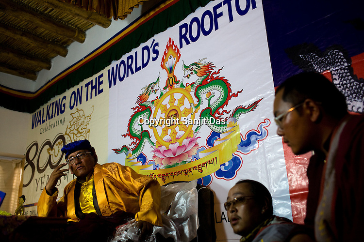 "His Holiness the Twelfth Gyalwang Drukpa, the head of the Drukpa Lineage speaks after he finished his, ""Walking On The World's Rooftop"" Pad Yatra (walk) from Manali to Ladakh. The 400 kms walk was focused at raising awareness awareness of His Holiness' charitable projects including education, environment and cultural preservation of tribal people from the area. The culmination of the Pad Yatra coincides with the colourful age-old Hemis festival in Leh, Ladakh, India."
