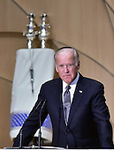United States Vice President Joe Biden makes remarks at the official National Memorial Service for Shimon Peres at Adas Israel Congregation in Washington, DC on October 6, 2016.  <br /> Credit: Ron Sachs / CNP