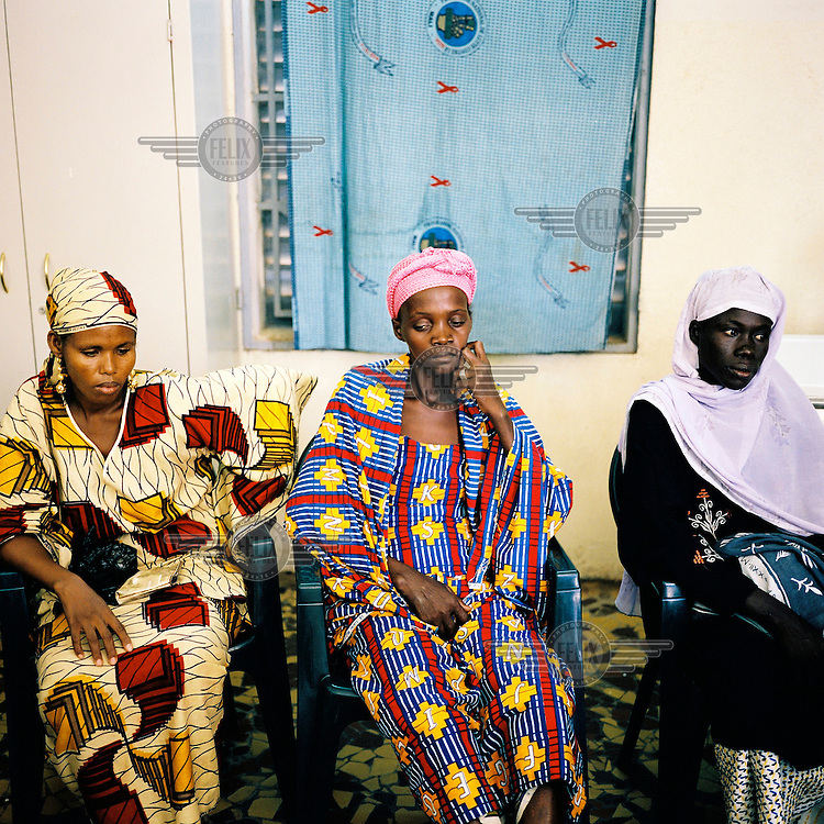 Women recently diagnosed with AIDS at the Centre for Treatment, Activities and Counselling for People living with HIV/AIDS (CESAC), which is the main organisation working with AIDS patients in Mali.