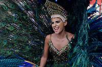 BARRANQUILLA-COLOMBIA- 08-02-2016: La Gran Parada de Fantasía del Carnaval de Barranquilla 2016 invita a todos los colombianos a contagiarse del Jolgorio general encabezado por su reina Marcela Garcia Caballero. El Carnaval es una de las festividades más importantes del país y se lleva a cabo hasta el 9 de febrero de 2016. / The Gran Parada de Fantasia of Carnaval de Barranquilla 2016 invites all Colombians to catch the general reverly led by their Queen Marcela Garcia Caballero. The Carnival is one of the most important festivals of the country and take place until February 9, 2016.  Photo: VizzorImage / Alfonso Cervantes / STR