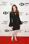 Executive Producer Giovanna Randall arrives at the U.S. premiere of the movie Disobedience, on April 22 2018, during the Tribeca Film Festival in New York City.
