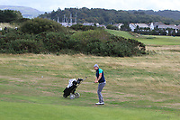 Alex Gleeson from Ireland on the 3rd during Round 2 Singles of the Men's Home Internationals 2018 at Conwy Golf Club, Conwy, Wales on Thursday 13th September 2018.<br /> Picture: Thos Caffrey / Golffile<br /> <br /> All photo usage must carry mandatory copyright credit (&copy; Golffile | Thos Caffrey)