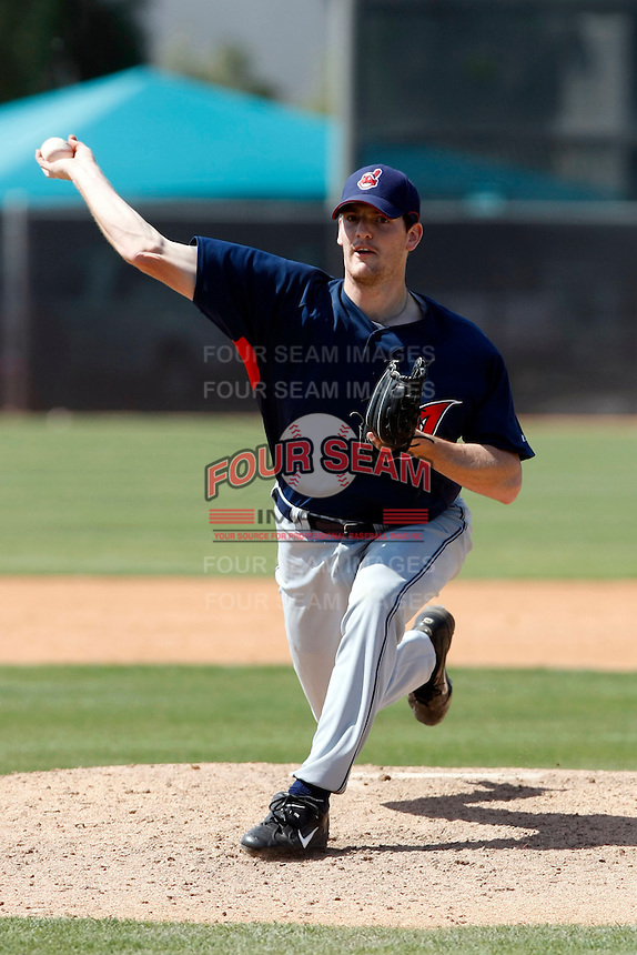 Marty Popham  -  Cleveland Indians - 2009 spring training.Photo by:  Bill Mitchell/Four Seam Images