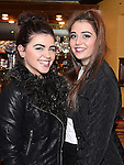 Sarah McCarville and Laura Harmon at the MS fundraiser in the Valley Inn. Photo:Colin Bell/pressphotos.ie