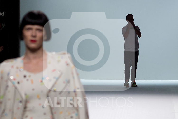 01.09.2012. Models walk the runway in the David Delfin  fashion show during the Mercedes-Benz Fashion Week Madrid Spring/Summer 2013 at Ifema. In the image Bimba Bose and David Delfin  (Alterphotos/Marta Gonzalez)