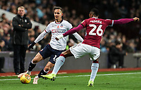 Bolton Wanderers' Pawel Olkowski competing with Aston Villa's Jonathan Kodjia<br /> <br /> Photographer Andrew Kearns/CameraSport<br /> <br /> The EFL Sky Bet Championship - Aston Villa v Bolton Wanderers - Friday 2nd November 2018 - Villa Park - Birmingham<br /> <br /> World Copyright &copy; 2018 CameraSport. All rights reserved. 43 Linden Ave. Countesthorpe. Leicester. England. LE8 5PG - Tel: +44 (0) 116 277 4147 - admin@camerasport.com - www.camerasport.com