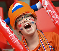 20170806 - ENSCHEDE , NETHERLANDS : Illustration shows the fans  pictured before the female soccer game between The Netherlands and Denmark  , the final at the Women's Euro 2017 , European Championship in The Netherlands 2017 , Sunday 6th of August 2017 at Grolsch Veste Stadion FC Twente in Enschede , The Netherlands PHOTO SPORTPIX.BE | DIRK VUYLSTEKE