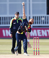 Ivan Thomas bowls for Kent during the Vitality Blast T20 game between Kent Spitfires and Gloucestershire at the St Lawrence Ground, Canterbury, on Sun Aug 5, 2018