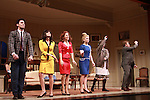 Opening Night Curtain Call of Boeing-Boeing starring One Life To Live Matt Walton (Benard) & Brynn O'Malley & Heather Parcells & Anne Horak & Beth Leavel & John Scherer on January 22, 2012 at the Paper Mill Playhouse, Millburn, New Jersey. (Photo by Sue Coflin/Max Photos)