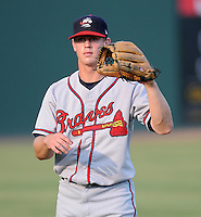 Outfielder Todd Cunningham (2) of the Rome Braves in a game against the Greenville Drive Aug. 9, 2010, at Fluor Field at the West End in Greenville, S.C. Cunningham was the Atlanta Braves' 2nd round pick in the 2010 Draft. Photo by: Tom Priddy/Four Seam Images