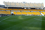 29 July 2004: Heinz Field prepared for a soccer game. Chelsea of the English Premier League defeated AS Roma of La Liga at Heinz Field in Pittsburgh, PA in a ChampionsWorld Series friendly match..