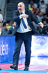Real Madrid's coach Pablo Laso during the first match of the playoff at Barclaycard Center in Madrid. May 27, 2016. (ALTERPHOTOS/BorjaB.Hojas)