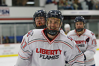 Liberty's Men's D2 Hockey team defeated Delaware in the ACHA Regionals at the LaHaye Ice Center on February 22, 2014. (Photo by Lizzy Benson)