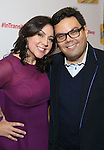 Kristem Anderson-Lopez and Robert Kristen Anderson-Lopez and Robert Lopez attends the Broadway Opening Night Performance Press Reception for  'In Transit' at Circle in the Square Theatre on December 11, 2016 in New York City.