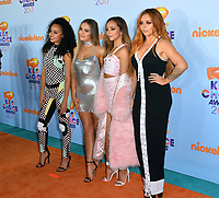 Pop group Little Mix - Leigh-Anne Pinnock, Jade Thirlwall, Jesy Nelson &amp; Perrie Edwards - at the Nickelodeon 2017 Kids' Choice Awards at the USC's Galen Centre, Los Angeles, USA 11 March  2017<br /> Picture: Paul Smith/Featureflash/SilverHub 0208 004 5359 sales@silverhubmedia.com