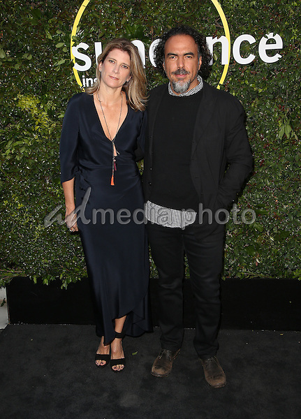 02  June 2015 - Culver City, Maria Eladia Hagerman, Alejandro G. Iñárritu. 2015 Sundance Institute Celebration Benefit Held at 3LABS. Photo Credit: F.Sadou/AdMedia