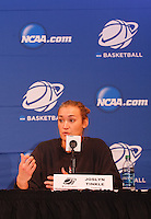 STANFORD-March 23, 2013: Joslyn Tinkle during NCAA press conference Saturday Morning on the day before the first round of the NCAA Division 1 Women's Basketball Championship is played at Maples Pavilion.