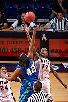 SAN ANTONIO , TX - FEBRUARY 17, 2010: The Texas A&M University Corpus Christi Islanders vs. The University of Texas At San Antonio Roadrunners Women's Basketball at the UTSA Convocation Center. (Photo by Jeff Huehn)