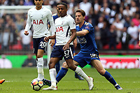Kyle Walker-Peters of Tottenham Hotspur and Adrien Silva of Leicester City during Tottenham Hotspur vs Leicester City, Premier League Football at Wembley Stadium on 13th May 2018