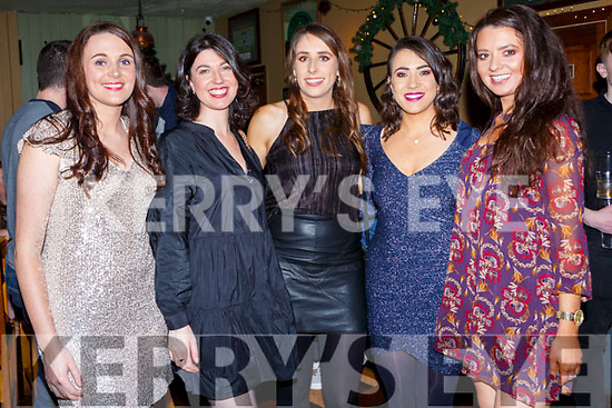 Nicola McCarthy, Ailis Crowley, Mary Butler, Niamh Byrne and Maru Buckley enjoying New Years Eve in the Failte Hotel Killarney