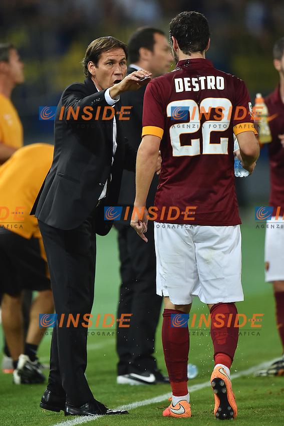 Rudi Garcia, Mattia Destro Roma <br /> Roma 27-09-2014 Stadio Olimpico, Football Calcio Serie A AS Roma - Hellas Verona. Foto Andrea Staccioli / Insidefoto