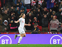 9th November 2019; Wembley Stadium, London, England; International Womens Football Friendly, England women versus Germany women; Ellen White of England celebrates scoring in 44th minute to bring the scores level 1-1 - Editorial Use
