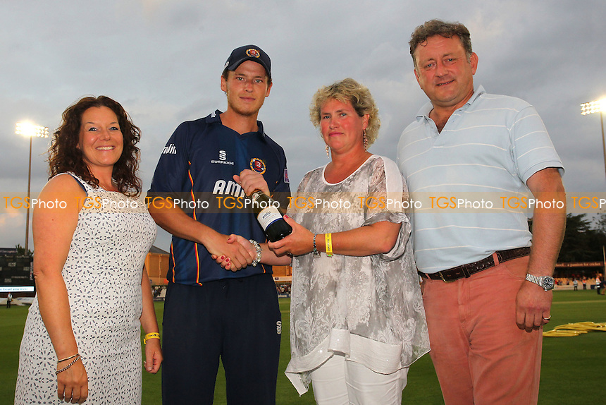 Tom Westley of Essex (2nd L) receives the man of the match award - Essex Eagles vs Sussex Sharks - NatWest T20 Blast Cricket at the Essex County Ground, Chelmsford, Essex - 25/07/14 - MANDATORY CREDIT: Gavin Ellis/TGSPHOTO - Self billing applies where appropriate - contact@tgsphoto.co.uk - NO UNPAID USE